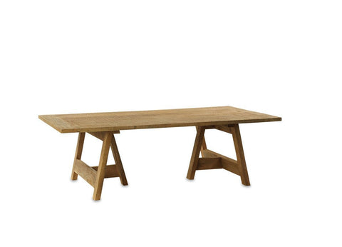 Oto Wooden Trestle Coffee Table - Small