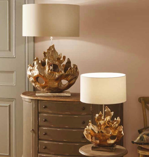 Sculptural Table Lamp - Nickel - Large