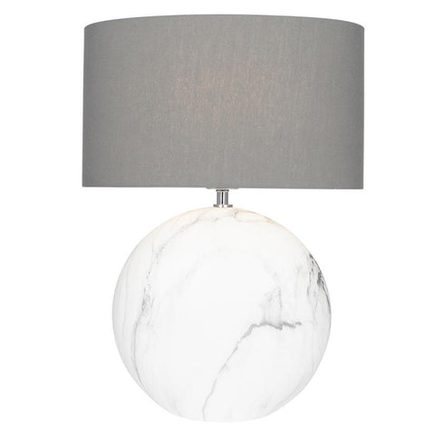 Marble Effect Ceramic Table Lamp  - Large