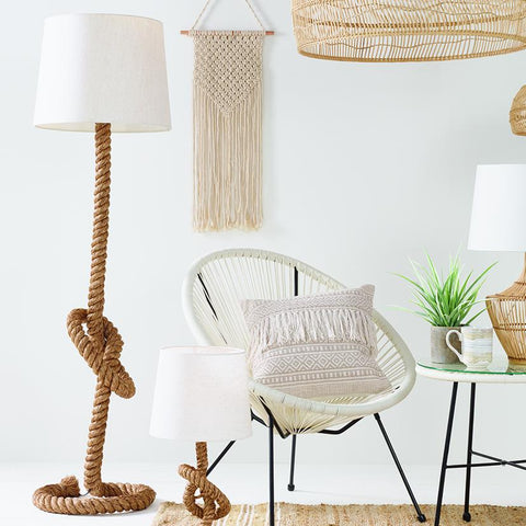 Rope Knot Floor Lamp With Shade