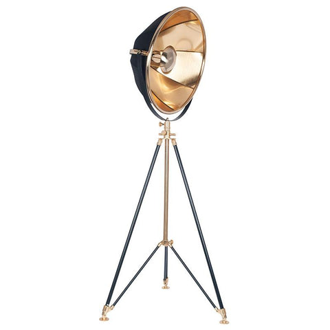 Metal Tripod Lamp - Gold & Black