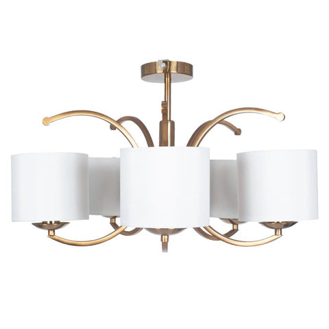 Semi Flush 5 Arm Pendant Light