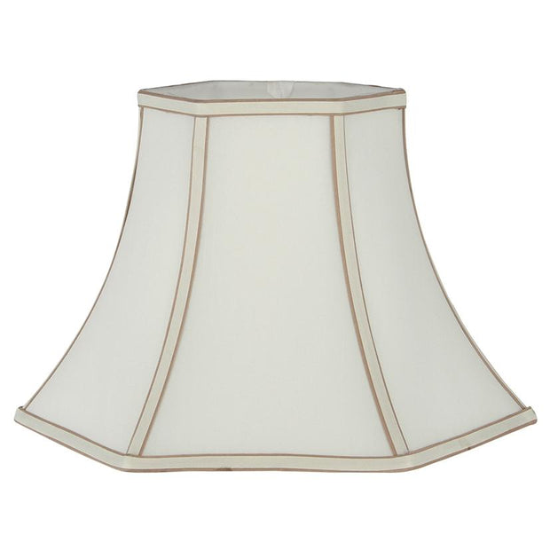 Lamp Shade - Silk Effect Bowed Hexagon