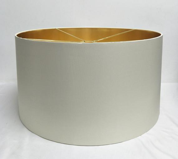 Lamp Shade -  Gold Metalic Lining - Silk Effect