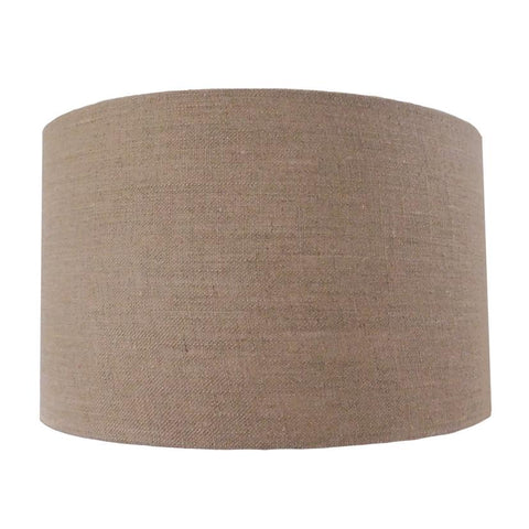 Lamp Shade -Various Sizes & Colours - Heavy Textured Natural  Drum Shade