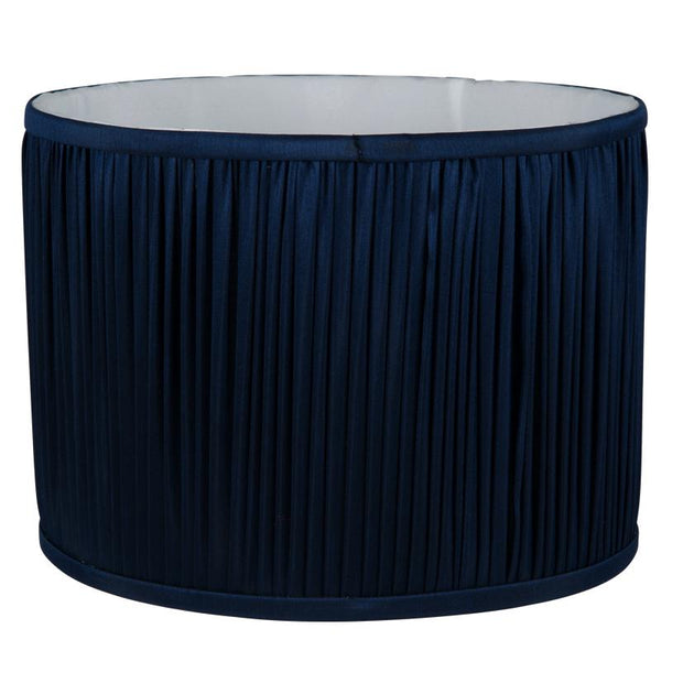 Lamp Shade - Silk Effect Hand Pleated  Drum