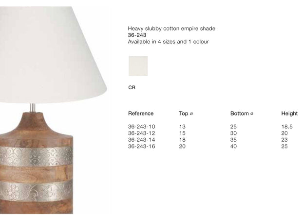 Lamp Shade - Cotton Empire - Stubby