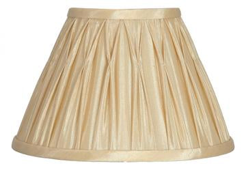 Lamp Shade - Silk Effect Pinch Pleat  Empire