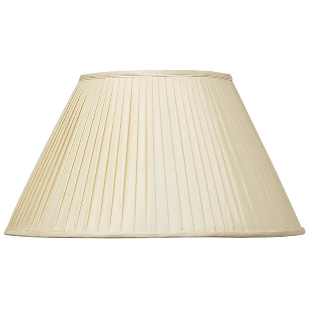 Lamp Shade - Pure Silk Knife Pleat Empire