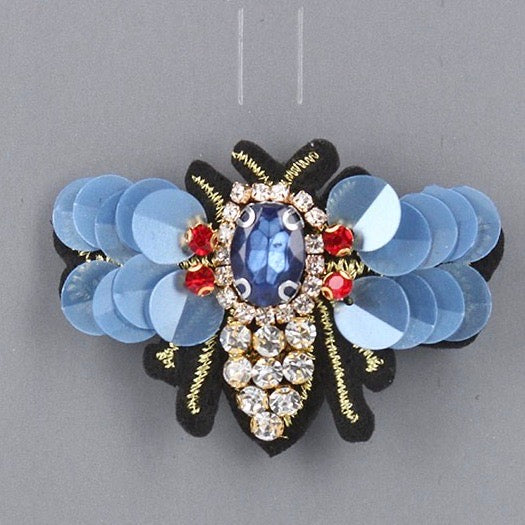 Sequin Wing Bee Brooch