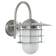 Outdoor Metal & Opaque Glass Wall Light - 3 Finishes