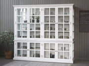 Large 8 Glass Door Display Cabinet - White