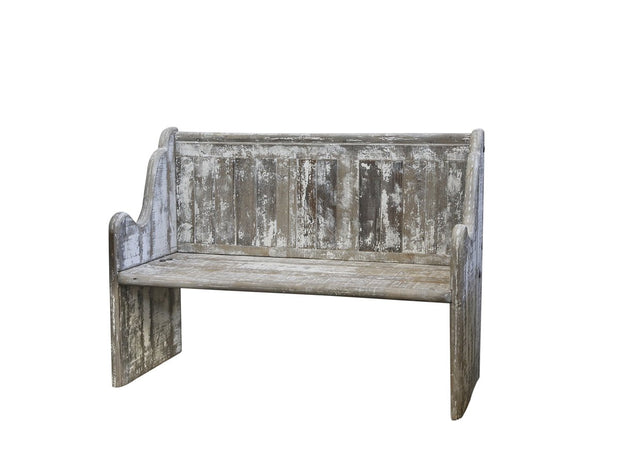 Rustic Old Church Bench
