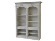 French Bookcase with Curved Shape & Mouldings
