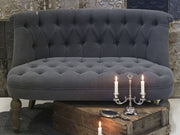 French 2 Seat Couch - Charcoal