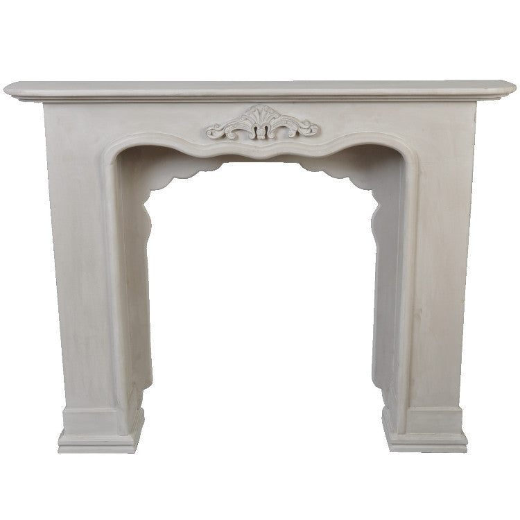Fireplace Surround - Gesso Grey - Allissias Attic  &  Vintage French Style - 1