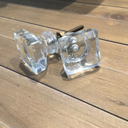 Square Glass Knob - Allissias Attic  &  Vintage French Style - 1
