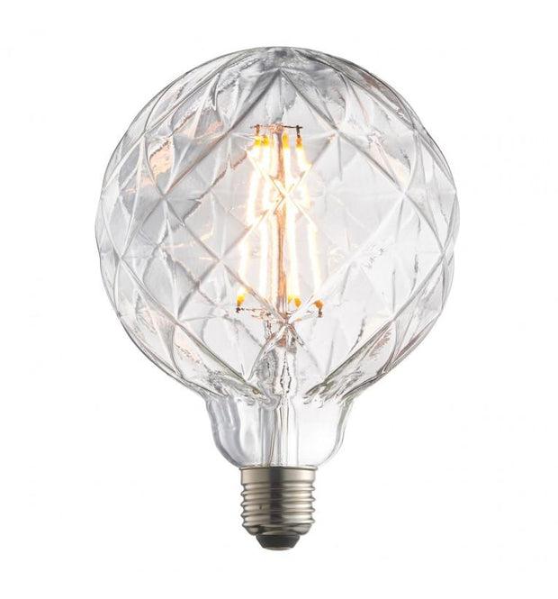 Glass Globe Bulb with Facet Design