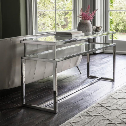 Salerno Console Table Silver