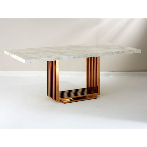 Marble & Rose Gold Dining Table