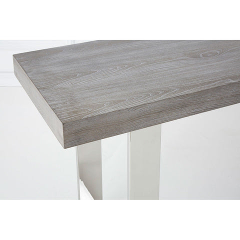 Elm Wood & Steel Console Table