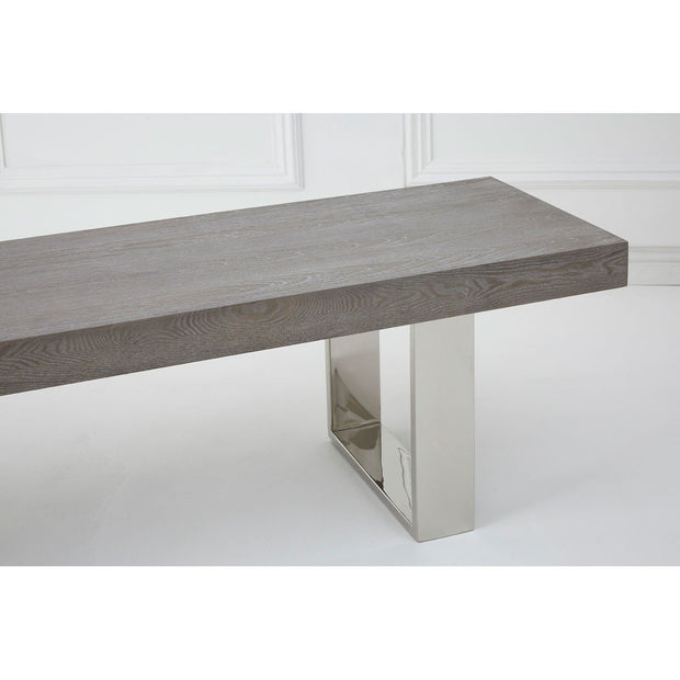 Ulmus Elm Wood Bench - Grey