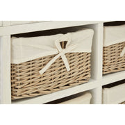Hendra Cabinet With 6 Willow Baskets