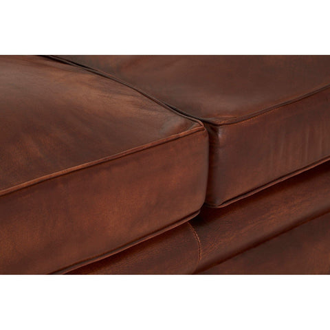 Buffalo Leather Chesterfield Sofa - Dark Brown