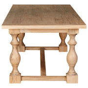 Whitewash Column Base Dining Table