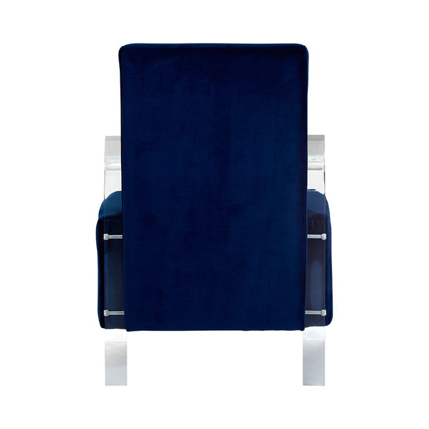 Clarence Velvet Chair - Blue