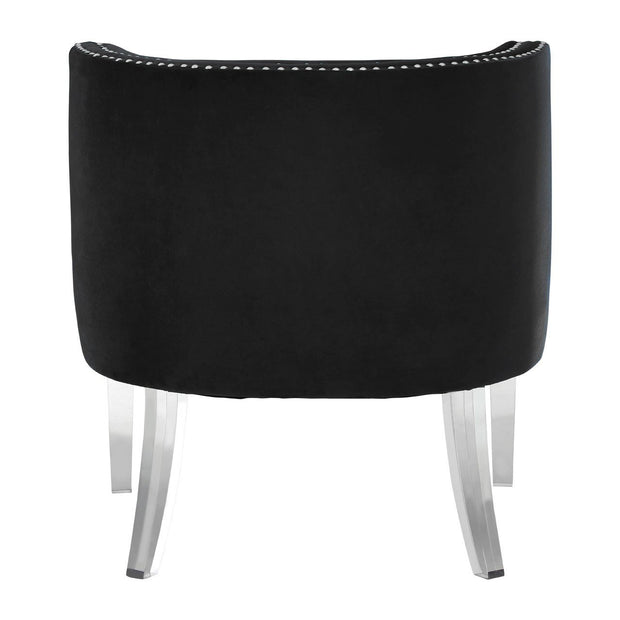 Clarence Curved Chair - Black