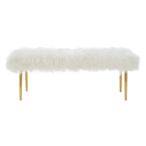 Clarence Natural Fur Effect Bench