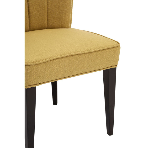 Yellow Linen Dining Chair - Set of 2