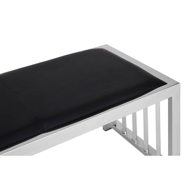 Novara Leather Bench - Black