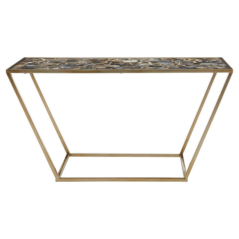 Agate Console Table - Black