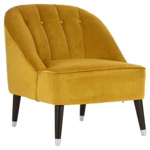 Dijon Velvet Statement Chair
