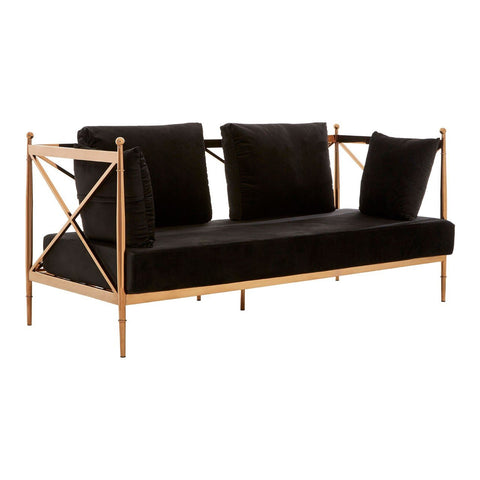 Rose Gold Lattice Arm Sofa - 2 Seater