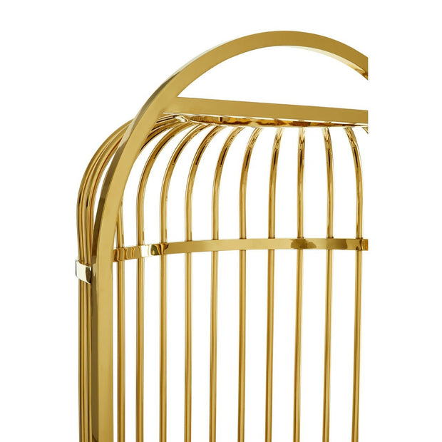 Gold Finish Dome Cage Chair
