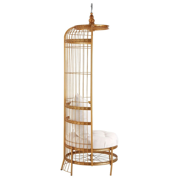 Birdcage Styled Chair - Gold