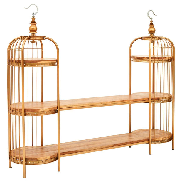 Birdcage Shelf Unit - Gold