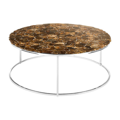 Agate Stone Top Coffee Table