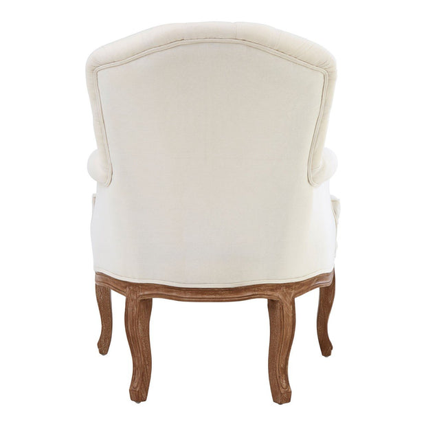 Loire /Mahogany Wood Armchair - White