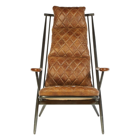 Hoxton Genuine Leather Chair - Light Brown