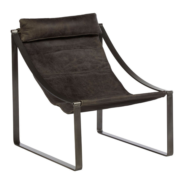 Hoxton Leather Chair - Ebony