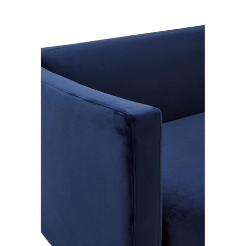 Pinn Dark Blue Velvet Sofa