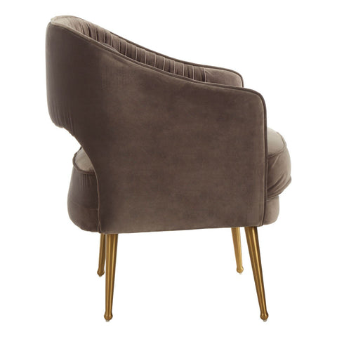 Hendrix Velvet Chair - Grey