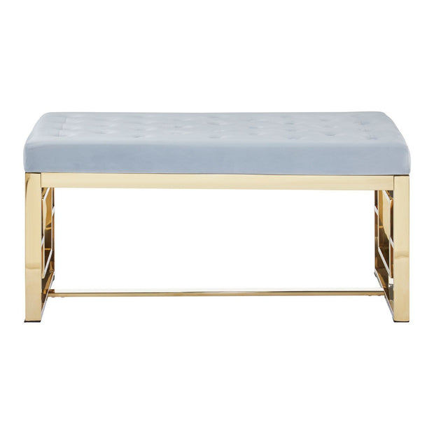 Allure Tufted Bench - Grey