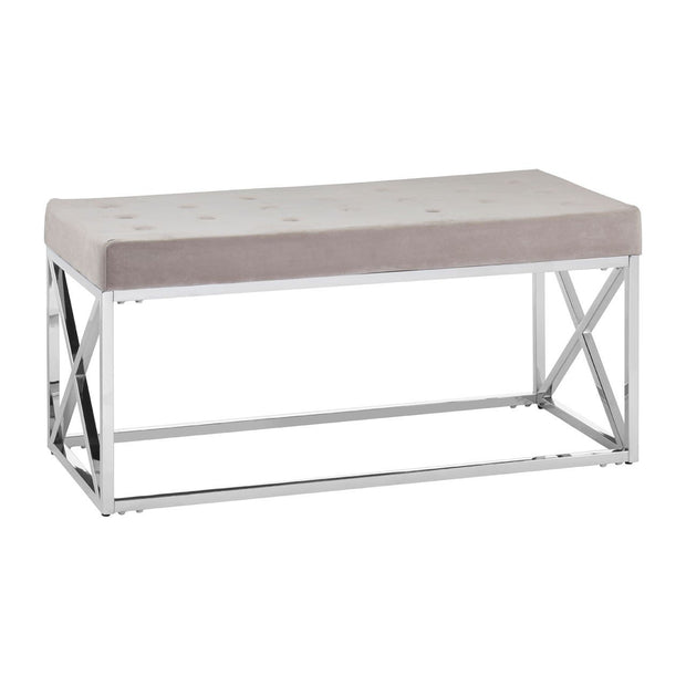 Allure Tufted Bench - Mink