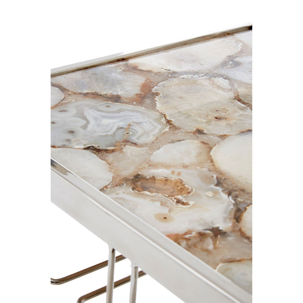 White Agate Drinks Trolley