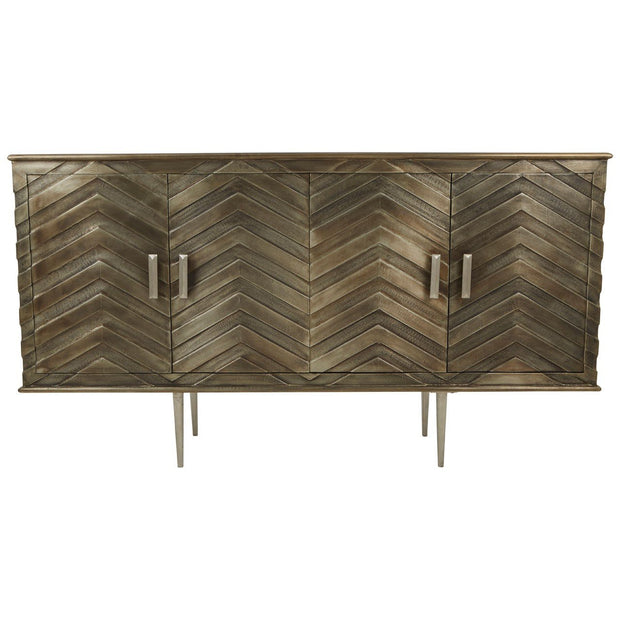 Mango Wood Chevron Sideboard